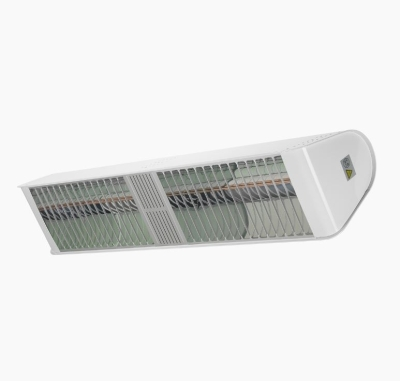 Heat Outdoors IP65 4.8KW Shadow Fatboy Double Patio Heater in White