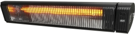 Heat Outdoors IPx5 3KW Shadow Carbon Patio Heater with Remote in Black
