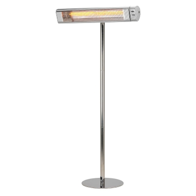 Heat Outdoors Shadow Carbon 3.0kW With Stainless Steel Pole, Silver