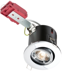 IC Fire Rated Tilt GU10 Downlight Twist & Lock Chrome