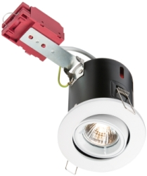 IC Fire Rated Tilt GU10 Downlight Twist & Lock White