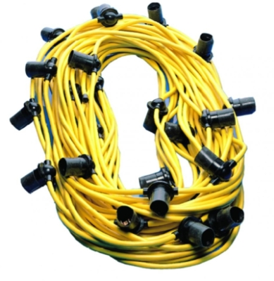 IP44 110V 100m Festoon Cable Complete With Bayonet Cap Holders