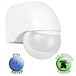 IP44 Fully 1200W Adjustable Infrared Montion PIR Sensor White