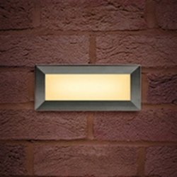 Integral Brick Light Recessed 3.8W 3000K Wall Light with Interchangeable Stainless Steel (180 Lumens