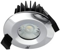 Integral Chrome Dimmable LED Downlight 6w IP65 Fire Rated (Cool White - 38 Degree)