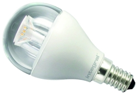 Integral Dimmable LED Clear Golfball 6.2W SES Warm White (40 Watt Alternative)