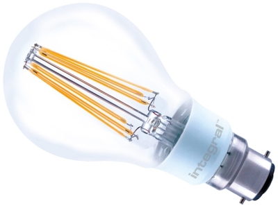 Integral Dimmable LED Filament GLS 12W BC Very Warm White (100W Alternative)