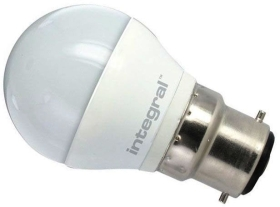 Integral Dimmable LED Frosted Golfball 6.2W BC Warm White (40 Watt Alternative)