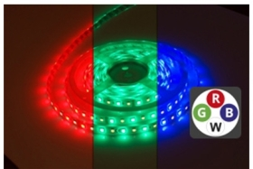 Integral IP65 (Indoor and Outdoor Use) 5m LED Strip RGB Cool White 24V 12 Watts per Metre