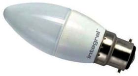 Integral LED Dimmable Frosted Candle 6.2W BC American Daylight (40 Watt Alternative)