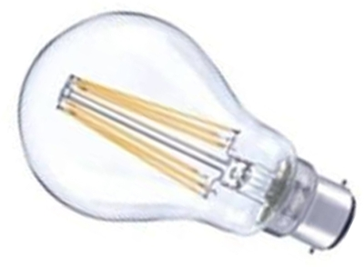 Integral LED Filament GLS 8W BC Very Warm White (75W Alternative)
