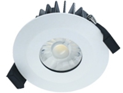 Integral White Dimmable LED Downlight 10w IP65 Fire Rated (Warm White - 60 Degree)