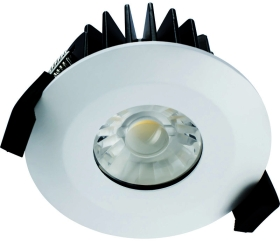 Integral White Non-Dimmable LED Downlight 6w IP65 Fire Rated (Cool White - 38 Degree)