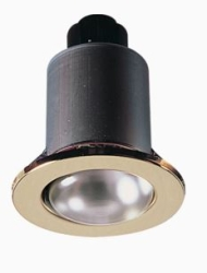 Knightsbridge 60W Max IP20 R63 E27 Fixed Downlight 240V in Brass