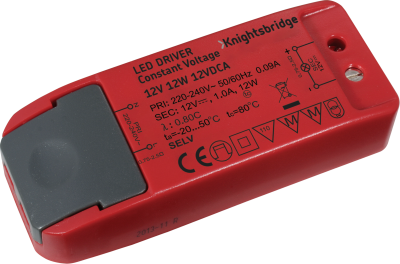 Knightsbridge IP20 Constant Voltage 12V 12W LED Driver