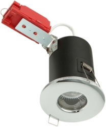 Knightsbridge Low Voltage IP65 Fire Rated MR16 Fixed Downlight Chrome