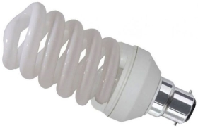 Kosnic 110 Volt Energy Saving Spiral 11W BC Warm White (60 Watt Alternative)