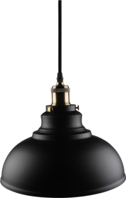 Kosnic Black Bowl Shaped E27 Pendant Fitting