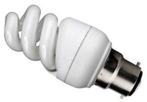 Kosnic Energy Saving Mini Spiral 7W Very Warm White BC (40W Alternative)