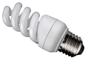 Kosnic Energy Saving Mini Spiral 9w Very Warm White ES (50W Alternative)