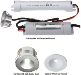 LED 230 Volt IP20 3 Watt Emergency Downlight (Non-Maintained Use Only)