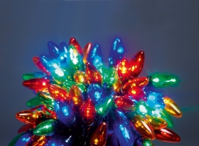 LED C6 Style 120 Multi-Coloured Chasing Lights (11.9m Illuminated)