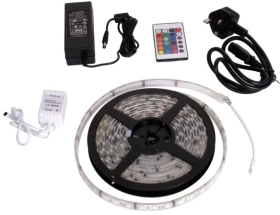 LED Colour Changing 7.2 Watt 5M Flexi Strip Complete Kit