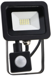 LED Floodlight 10w Warm White With PIR Sensor (80 Watt Alternative)