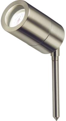 LED GU10 230 Volt IP65 35 Watt Stainless Steel Garden Spike Light (Lightweight Version)