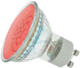 LED GU10 Cluster Red 1.8W (48 LEDs) (5W Alternative)
