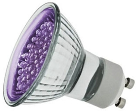 LED GU10 Cluster Ultraviolet 1.2 Watt (21 LEDs) (5 Watt Alternative)