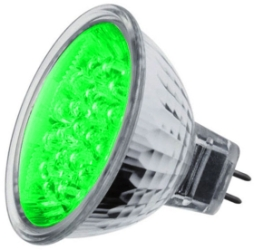 LED MR16 Cluster Green 1.8 watt (21 LEDs) (15 Watt Alternative)