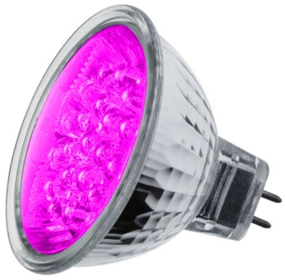 LED MR16 Cluster Magenta/Pink 1.8 watt (21 LEDs) (15 Watt Alternative)