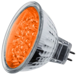 LED MR16 Cluster Orange 1.8 watt (21 LEDs) (15 Watt Alternative)