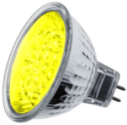 LED MR16 Cluster Yellow 1.8 watt (21 LEDs) (15 Watt Alternative)