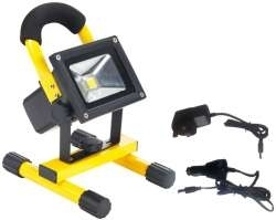 LED Rechargeable Flood Light 20W Daylight (160W Alternative - Black & Yellow Finish)