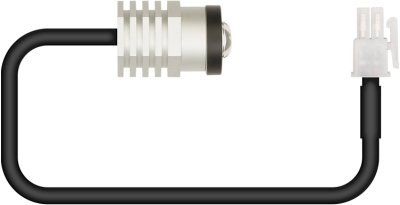 LitePlan 20mm Cut-Out Constant Current LED with Open Area Lens & Black Bezel (Panel Mountable)