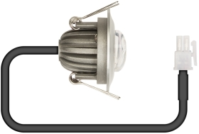 LitePlan 43mm Cut-Out Constant Current LED with Corridor Lens & Silver Bezel