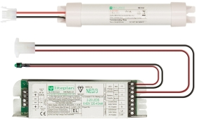 LitePlan NED/3/80-K Module Battery and Charge LED Indicator