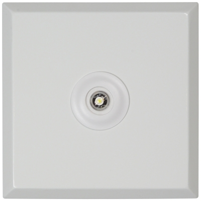 LitePlan White 3W NM Square LED Luminaire with Corridor Lens