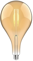 Luxram 4W Very Warm White Dimmable E27 'Type C' LED Filament Bulb Amber Finish