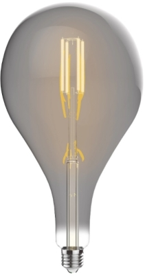 Luxram 4W Very Warm White Dimmable E27 'Type C' LED Filament Bulb Smoke Finish