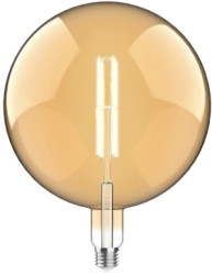 Luxram 4W Very Warm White Dimmable E27 'Type K1' LED Filament Bulb Amber Finish