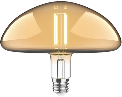 Luxram 4w Very Warm White Dimmable E27 'Type J' LED Filament Bulb Amber Finish