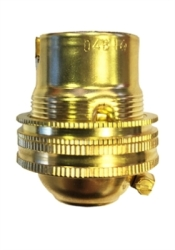 Lyvia BC Brass 1/2 Inch Brass Lamp Holder Unswitched With Earth