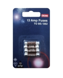 Lyvia Pack of 4 x 13Amp BS1362 BUB Fuses