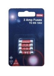 Lyvia Pack of 4 x 3Amp BS1362 BUB Fuses