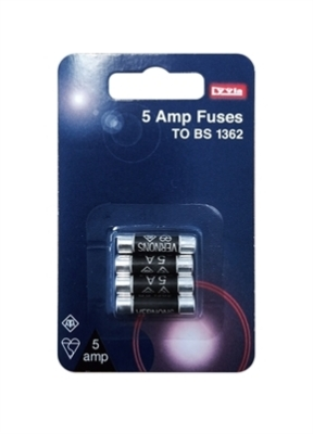 Lyvia Pack of 4 x 5Amp BS1362 BUB Fuses