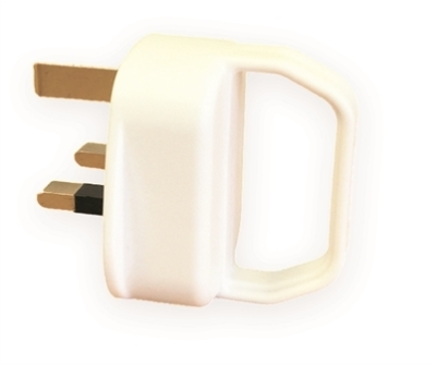 Lyvia White Plastic Pull Plug (13A) with Handle
