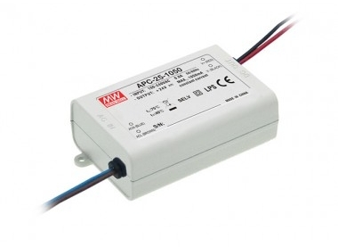 Mean Well Constant Current IP42 APC-25 25W 36V LED Driver